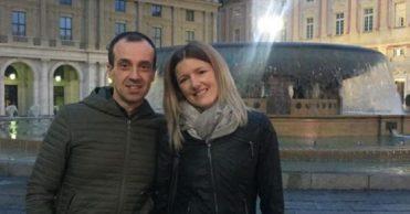 Oscar e Alessandra, il papà e la mamma di Giada