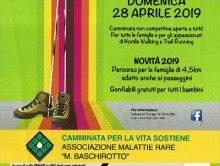 Locandina della 5a edizione della Camminata per la Vita, a favore della Fondazione Malattie Rare Mauro Baschirotto